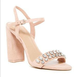 Jeweled Block Heel Sandal